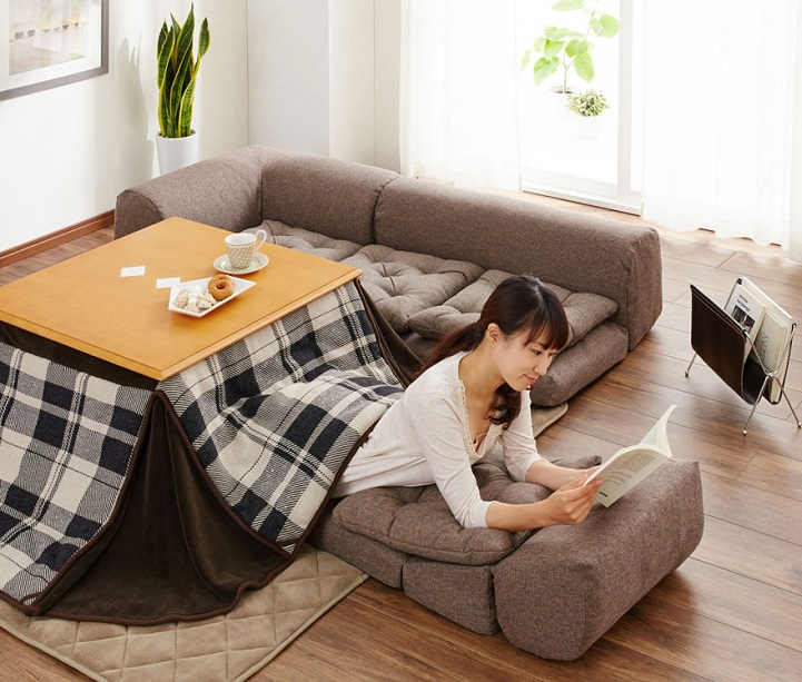 kotatsu japanese space heater table warm winter cozy