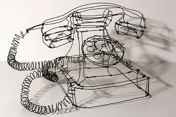 Contour Line Drawing With Wire : Playful three dimensional wire sculptures