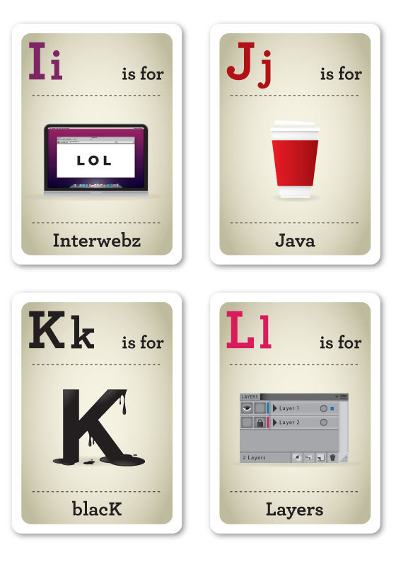 creative abc flash cards for the modern baby