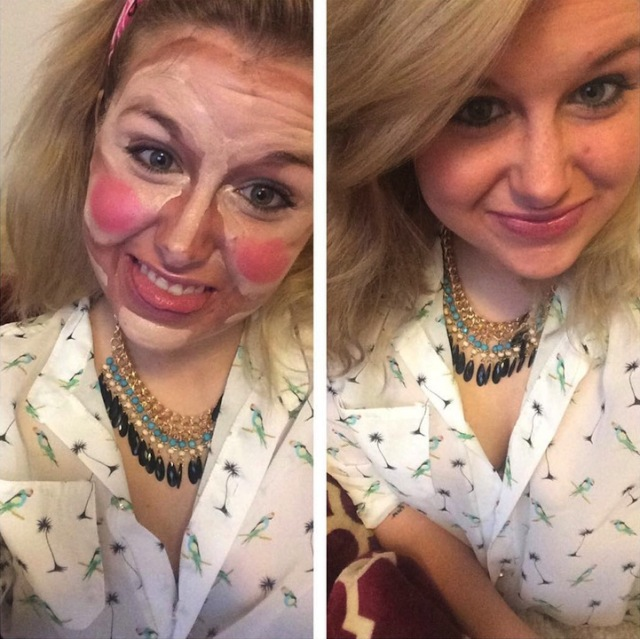 clown contouring the power of makeup