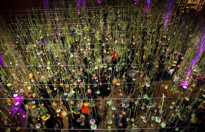 Beautiful Upside Down Gardens Suspended From The Ceiling