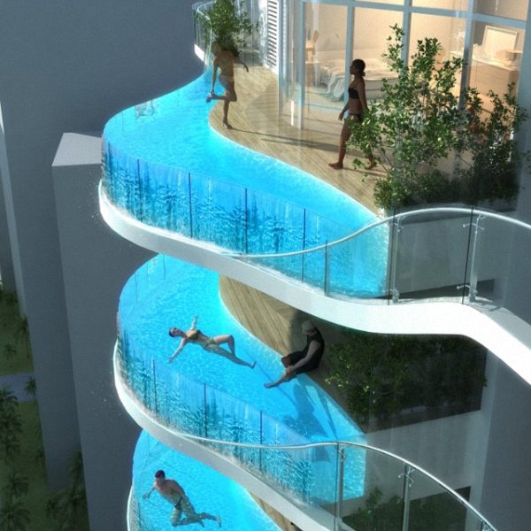 Mumbai 39 s floating balcony pools for Private swimming pools long island
