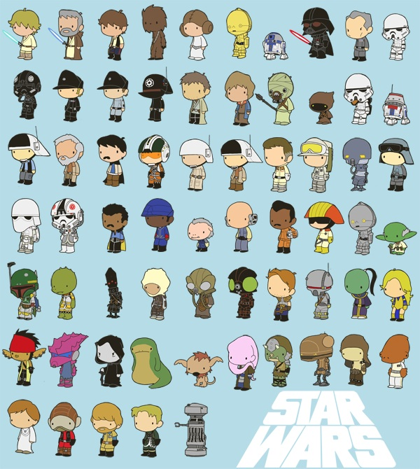 Miniature Star Wars Characters