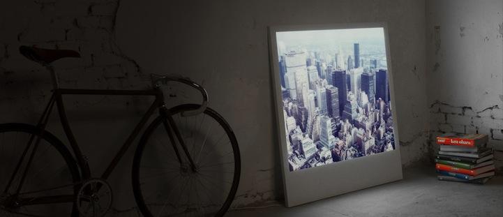 Giant Lit Up Polaroid Frames