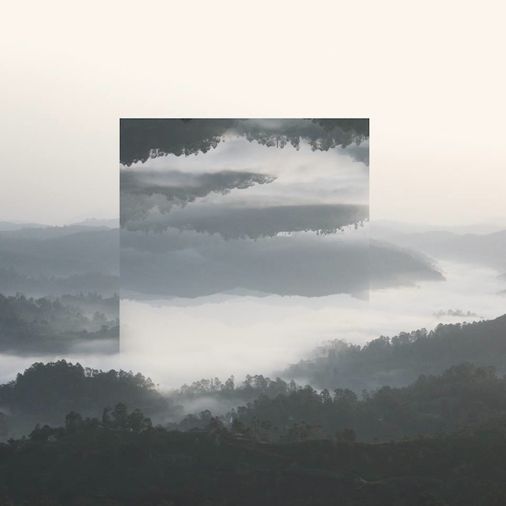 Geometric reflections in landscapes create abstract realities for Miroir tumblr