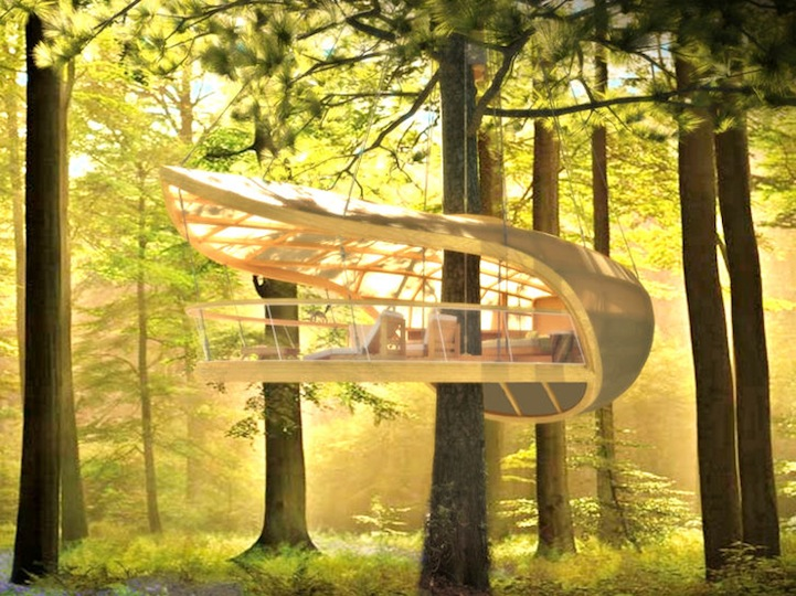 luxurious tree house pool luxury treehouse provides ultimate comfort in nature