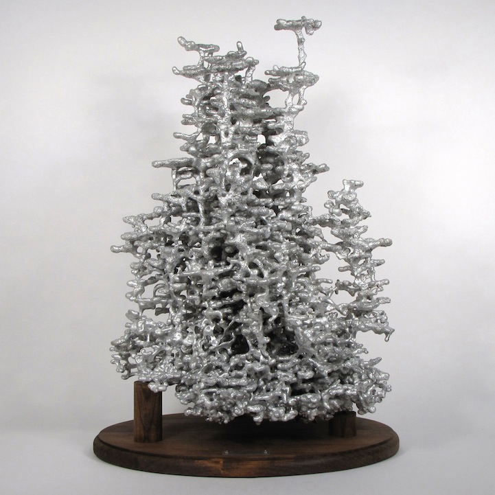 Amazingly Complex Ant Hills Cast as Aluminum Sculptures