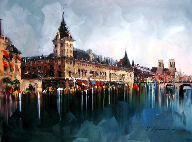 Beautiful Palette Knife Cityscapes - photo#13