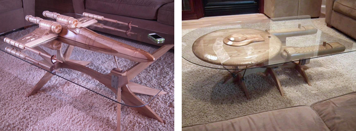 Craftsman Beautifully Fashions Ships From Star Wars And