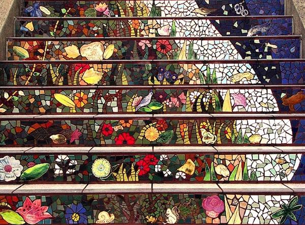 Photos Via [Landscape Architects], [Tile Steps], [Janet Blake]
