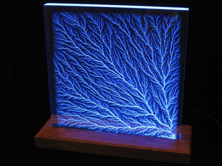 Artist Captures Lightning In An Acrylic Box
