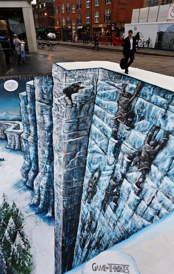 Awesome 3d Illusion Of The Wall From Games Of Thrones