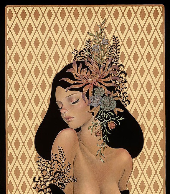 - First Look: Audrey Kawasaki's Gorgeous Wood Panel Paintings