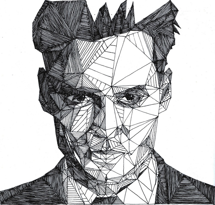 Famous Line Drawing Artists Names : More dazzling pen portraits by josh bryan