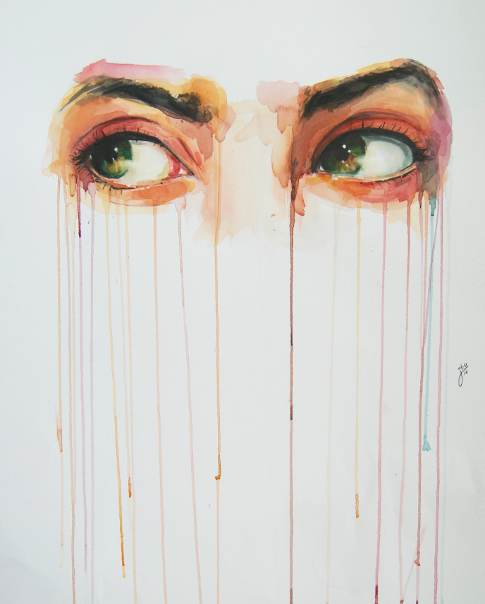 bfcdfe2cc5aeb4 Alluring Watercolor Paintings Prove that Eyes are Windows to the Soul