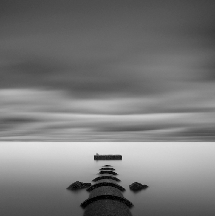 Soothing minimalist black and white photos