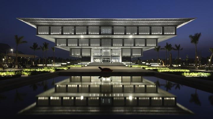 Modern Architecture Museum modern architecture: inverted pyramid muesum (8 pics)