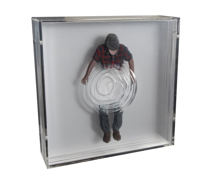 new layered plexiglass artworks by yosman botero. Black Bedroom Furniture Sets. Home Design Ideas