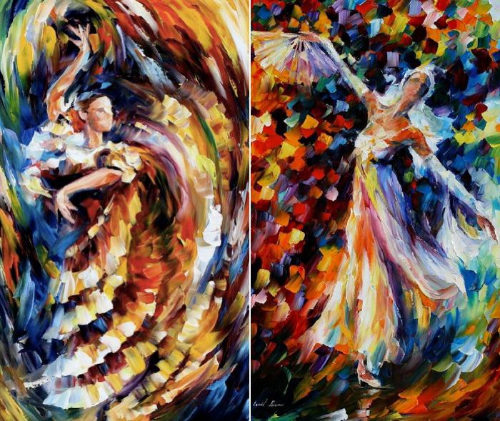 Skilled Knife Work Leonid Afremov 14 Paintings