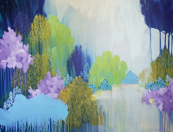 Exquisite paintings render the beauty of nature in drips - Harmonisation des couleurs peinture ...