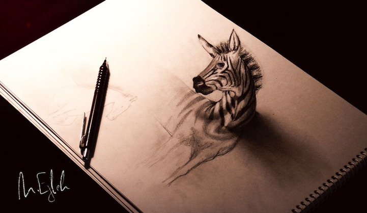 Amazing 3D Pencil Drawings Pop Out of the Page - photo#15