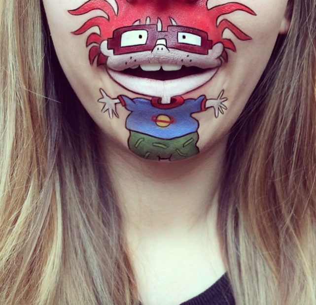 chuckie rugrats laura jenkinson lip art cartoon character makeup mouth lipstick