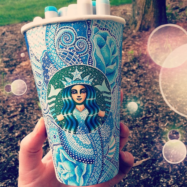 Artist Repurposes Starbucks Cups as Canvases for Colorful ...