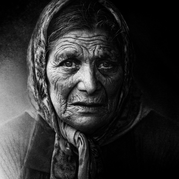 Powerful black and white portraits