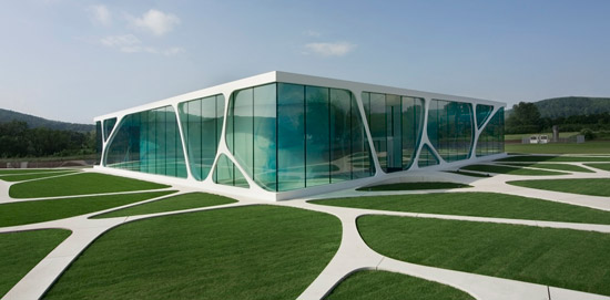 The Leonardo Glass Cube Is A Glass Fronted Building In Bad Driburg, Germany  Designed By 3Deluxe. The Integrative Design Concept Combines Architecture,  ...