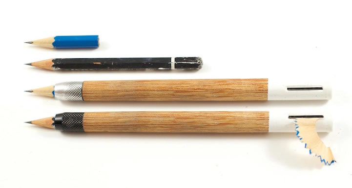 Ingenious Pencil Design Includes A Built In Sharpener