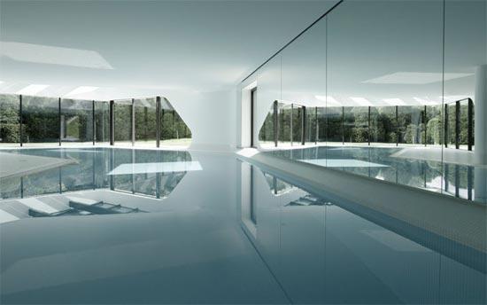 Swimming Pool Architecture Design superb swimming pool houses designs 4 superb swimming pool houses designs images Indoor Swimming Pool Courtesy Of Designboom