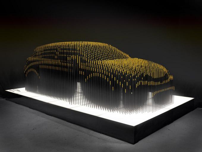 Pixelated Car Sculpture 5 Pics