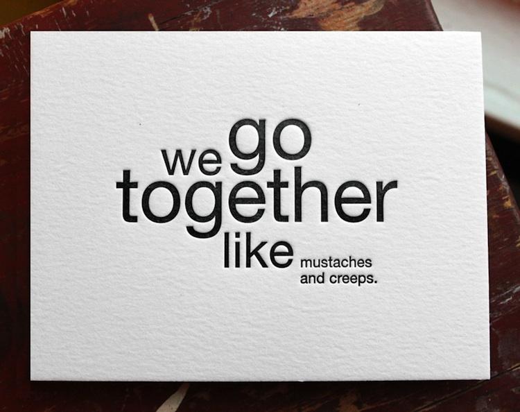 Funny Letterpress Cards For The Lovestruck