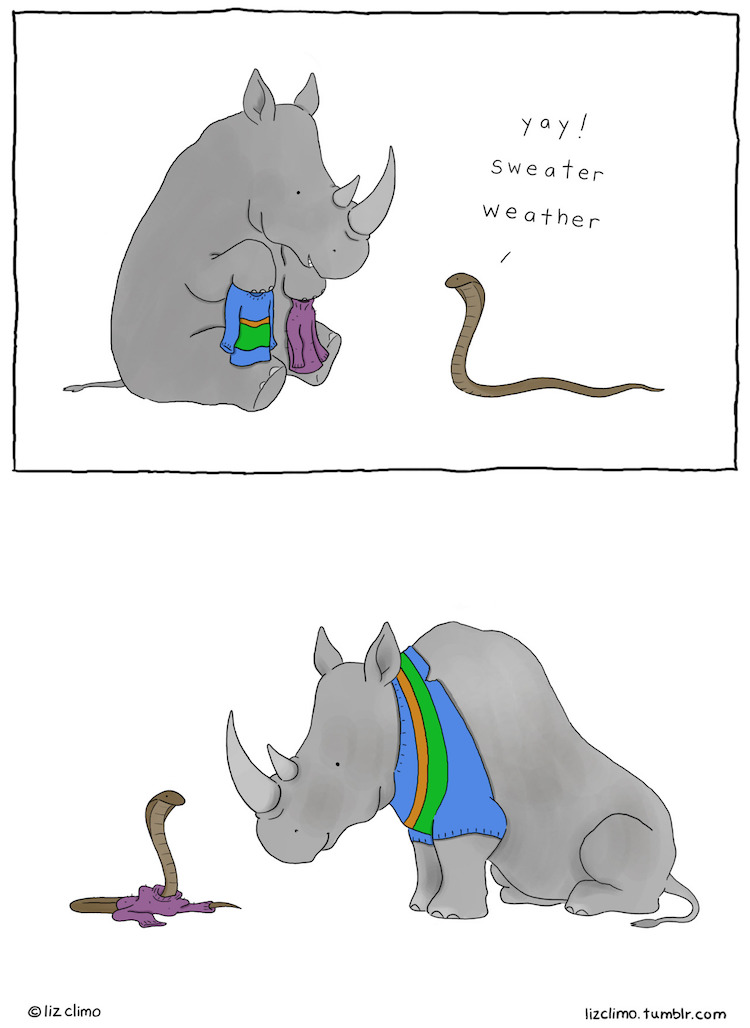 new charmingly witty animal comics by liz climo