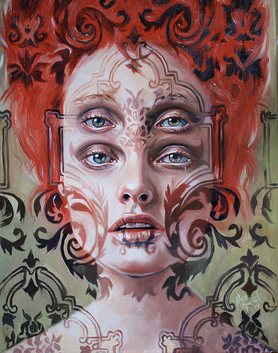 Gorgeously surreal portraits painted to resemble double vision publicscrutiny Gallery