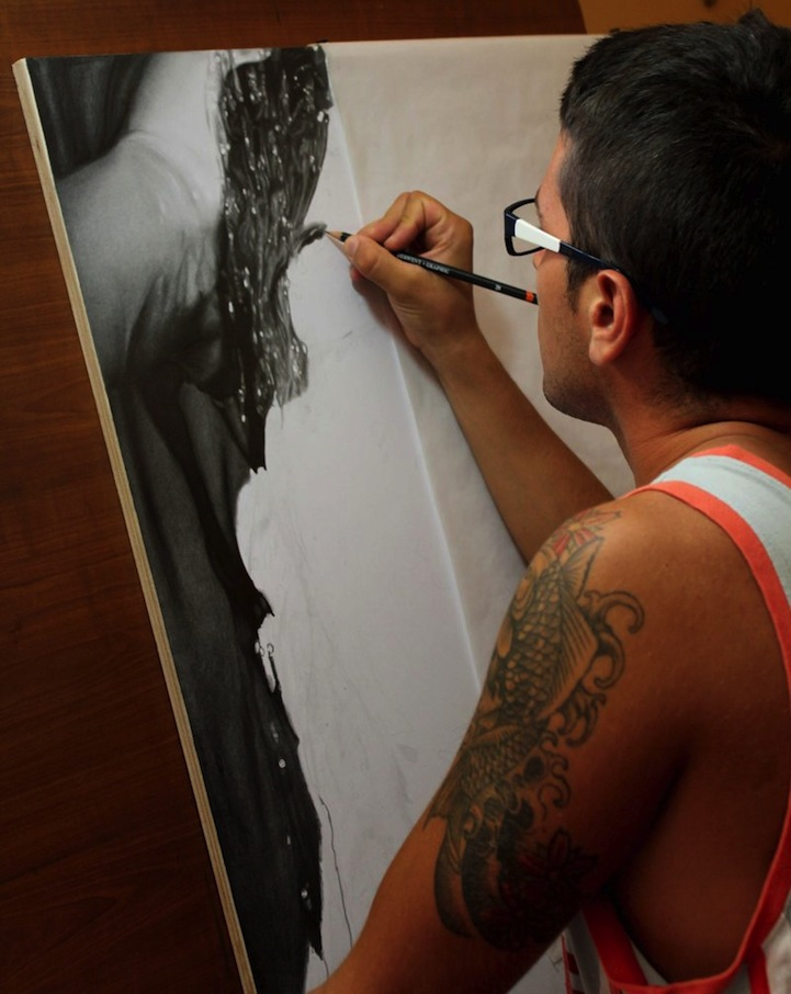 mind blowing photorealistic pencil drawing