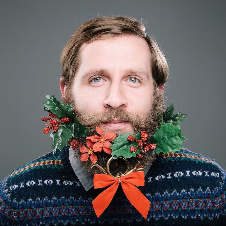 each year we don festive sweaters to show off our christmas spirit so why not spread the cheer to beards too photographer stephanie jarstad captured - Christmas Beard