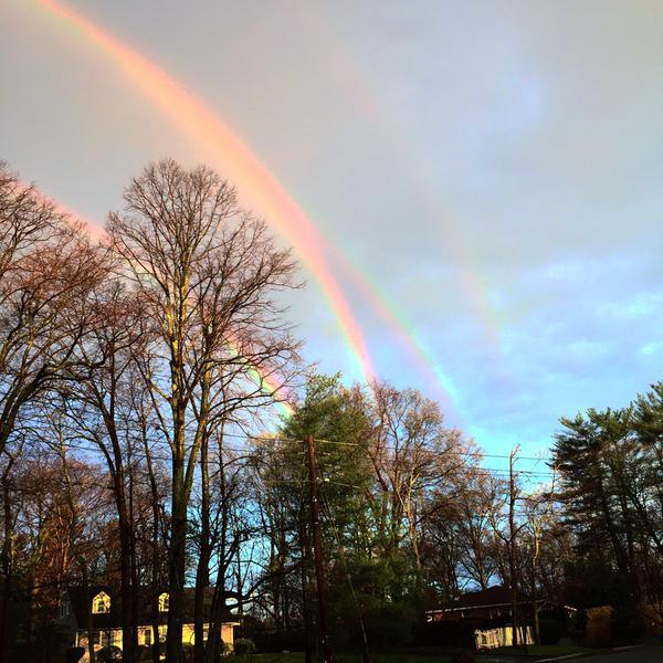 quadruple rainbow goes viral on the internet