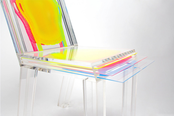 Bon Customizable Transparent Chair Uses Removable Sheets Of Plastic To Easily  Alter Its Appearance