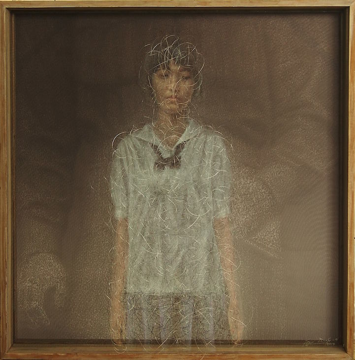 Holographic Portraits Painted On Delicate Layers Of Fabric