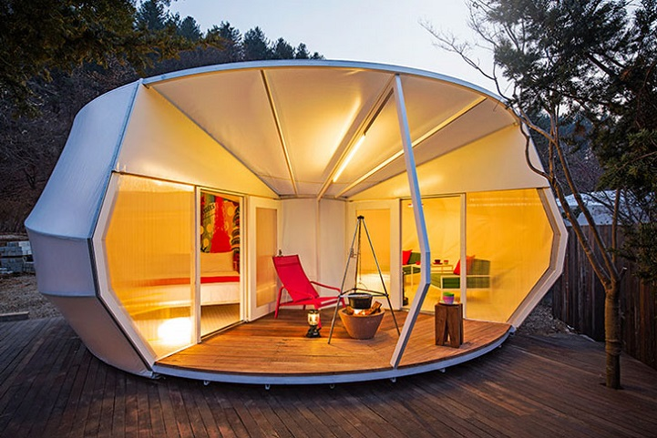 Some like to experience nature by getting up close and personal to the grit and grime but for the rest of the population the answer lies in the trend of ... & Luxurious Korean Tent Pods Expand the World of