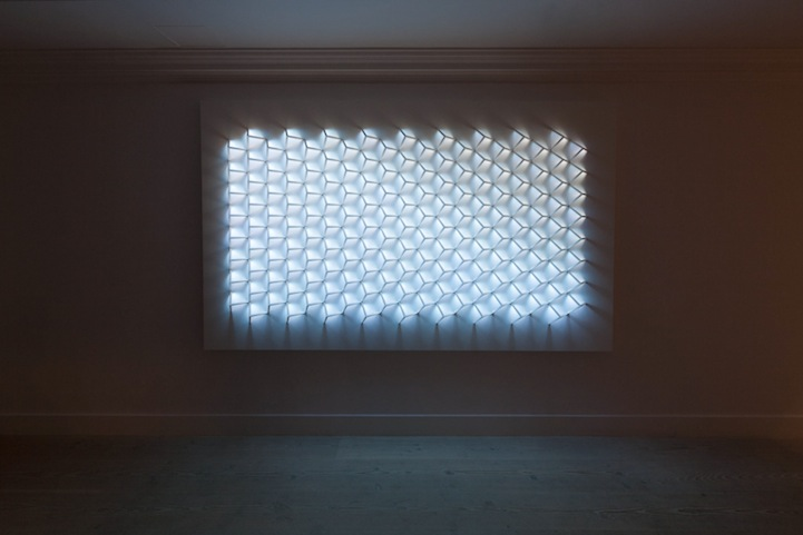 Geometric Light Patterns Mimic Different Times Of Day