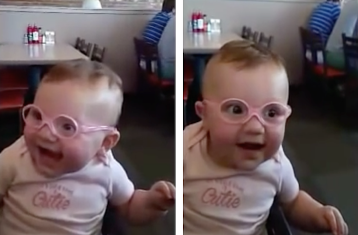 38bd4ce37041 Amazed Little Girl Sees Clearly for the First Time and Can t Hide ...