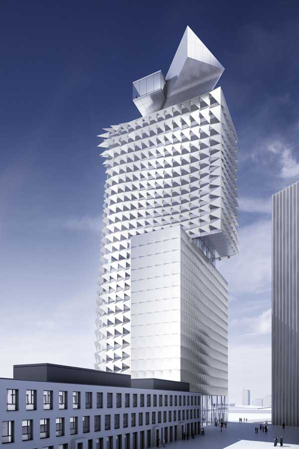 Modern Architecture Eco Friendly Heavy Metal Tower