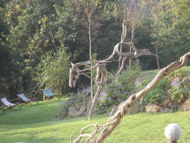 Elegant Driftwood Horse Sculptures