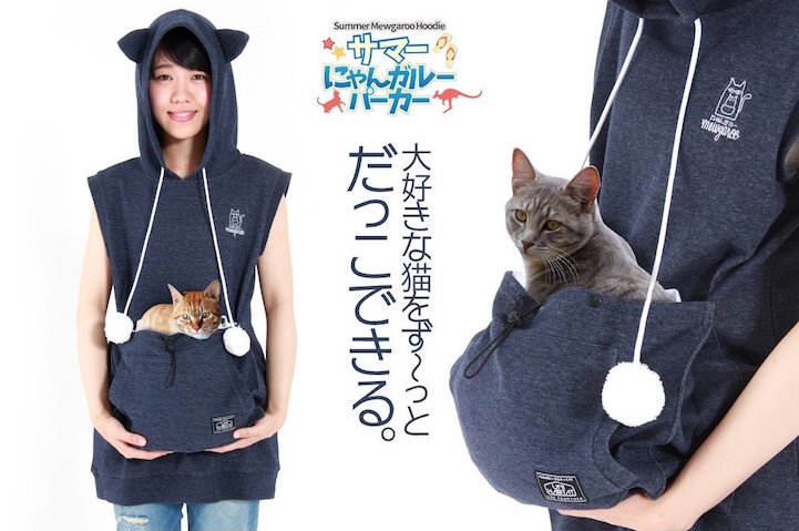 Cat-Friendly Hoodie Has a Special Pouch Designed to Tote Your