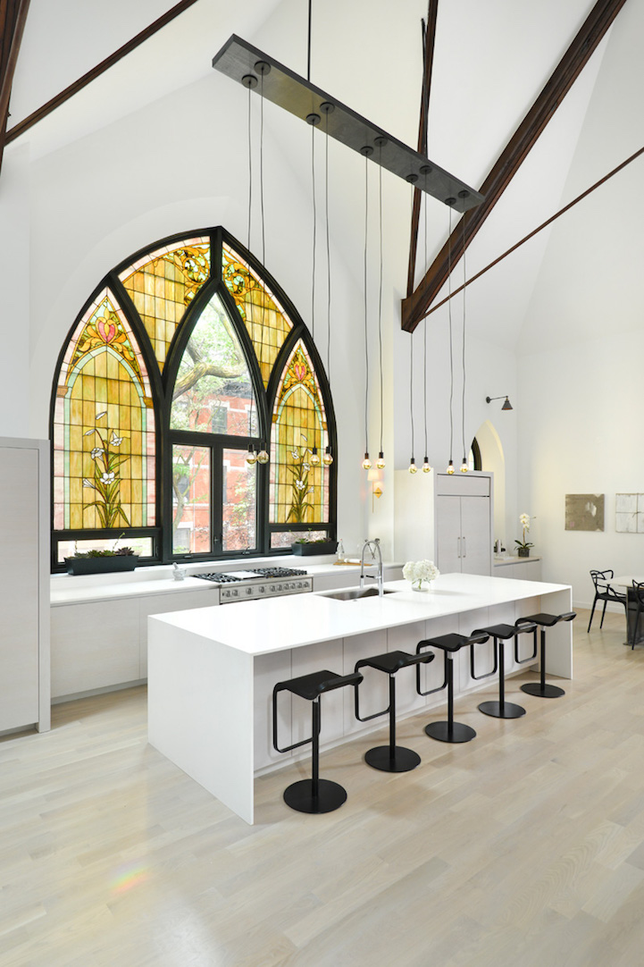 stained glass windows for home custom giant stained glass window church is converted into modern family home