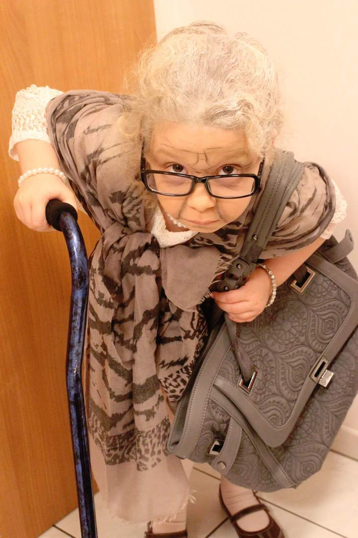 Kindergartner Dresses Up As A 100 Year Old To Celebrate