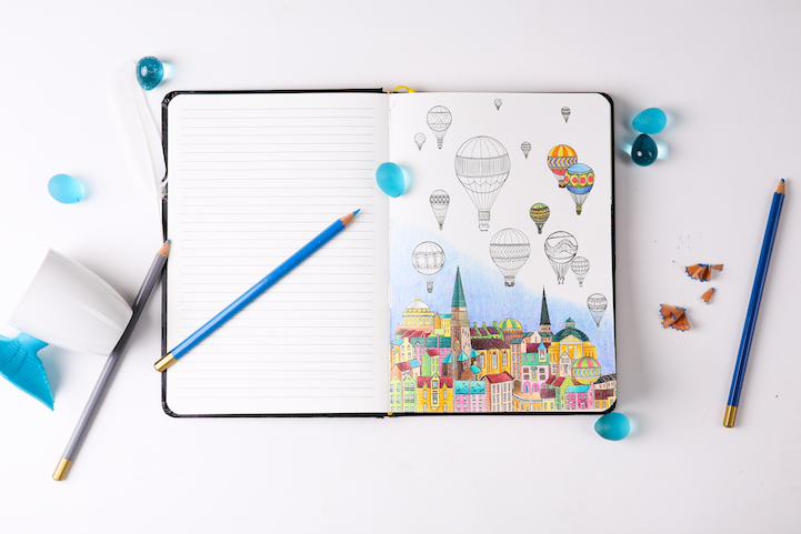 Adult Coloring Book Combined with Journaling Offers Multiple Forms ...