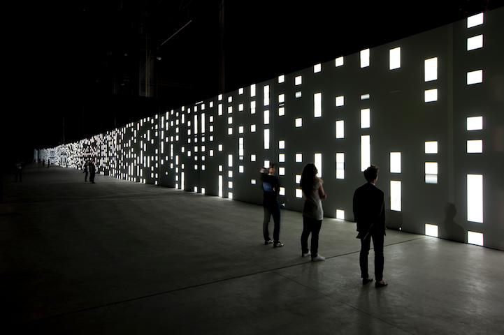 Infinite Patterns of Light Dance Across a 130 Foot Wall